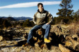 (GOLDEN., Colo., Jan 5, 2006) Steve Green visits a 40 acres lot he owns, Thursday Jan. 5, 2006 in...
