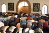 Colorado Muslims pray at the Masjid Abu Bakr at 2071 S. Parker Road on Tuesday January 10,2006....