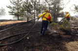 Wildfire in Jefferson County as seen  north of of Hwy 72 and west of Hwy 93 on Wednesday January...