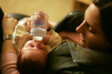 Katherine Cathey, Brighton, feeds her son Jimmy on January 6, 2006. On December 23, 2005,...