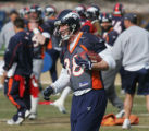 JMZ193  Denver Broncos tight end Jeb Putzier at practice at the Broncos headquarters in Denver on...