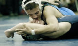 Ft. Lupton, CO Jan. 12, 2006 Saul Guerrero of Ft. Lupton pins Zach Melendez of Northridge at the...