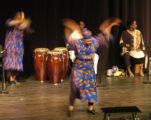 Members of the Black Hand Drummers perform at Highlands Ranch High School Sunday afternoon January...