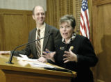 Denver, CO Jan. 16, 2006 Rep. Tom Plant, D-Nederland, and Sen. Joan Fitz-Gerald, D-Golden,...