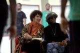 On March 20, 2006, Cleo Parker Robinson (cq) (l) watches rehearsal with Marcy Freeman (cq) for the...