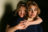 Portrait of Monica Ortiz (cq), 26, of Aurora, right, and her mother Martha Salazar (cq), of...