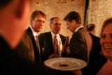 Real Estate brokers with Opus gather for cocktails and hors d'oeuvres at Cafe Star before an...