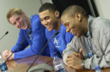 BE SURE TO VERIFY NAMES IN CAPTION!!! (Lt. to Rt.) Air force Academy Falcons basketball team...