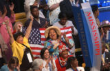 [(Boston, MA,Shot on: 7/27/04)] Delegates from Mississippi dance in the isles as former vice...