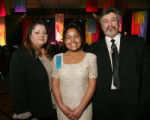 (Denver, Colo., March 11, 2006) LAEF Student of the Year Jovan Quintana, center, with her parents,...