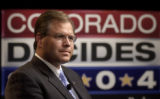 (Denver, Colo., July 12,  2004)   Republican U.S. Senate candidate Bob Schaffer in a debate with...