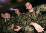 From Left- Air Force Academy Cadets 3rd class Montanna Ewers (cq), of St.Cloud, Minn., Eddie...