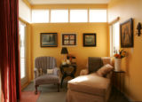 The sitting area in the master bedroom in the home of Ed Warner and Jacalyn Erickson on March 1,...
