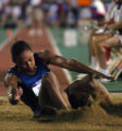 (Sacramento, Calif. on MONDAY, July 12,2004) -- Marion Jones in the long jump at the U.S. Olympic...