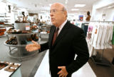 Macy's West Chairman Robert L. Mettler (cq) on a walking tour of the retailer's flagship store in...
