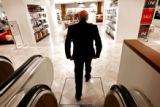 Macy's West Chairman Robert L. Mettler (cq) steps off an elevator and into the Home Store floor on...