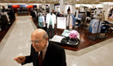 Macy's West Chairman Robert L. Mettler (cq) explains a few features of the Macy's stores on a...