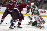 DXA111 - ** RETRANSMITTED FOR IMPROVED QUALITY ** Colorado Avalanche right winger Milan Hejduk,...