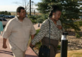 Aaron Thompson and Shely Lowe arrive at Arapahoe County Court in Centennial, Monday Apr. 10, 2006...