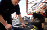 (DENVER, Colo., July 12, 2004)  Doug Herbert/Snap-On Tools Top Fuel Dragster crew member Nate...