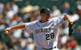 Rockies starting picture Aaron Cook pitched a strong game at Coors Field Sunday afternoon April...