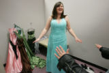Prom Fashion on March 30, 2006 at FlatIron Crossing.  Ashley Patterson,(cq)  18, from Hudson,...