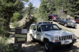 Road access to the visitor's center  in Eldorado Canyon State Park is restricted as hundreds of...
