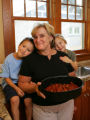 Judy Kleiner's (Cq) brisket with her grandchildren, 5-year-old twins Max and Leah Kleiner at...