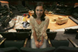 Romi Dias, (cq), within the Space Theatre, where she performs in Living Out, Sept 21-Oct. 28. She...