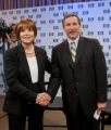NYBZ101 - **FILE**Hewlett-Packard Co. new president and CEO Mark Hurd, right, shake hands with...