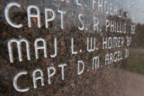 DLM00576   Maj. Leroy Homer is listed on the war memorial at the Air Force Academy in Colorado...