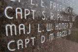 DLM00580   Maj. Leroy Homer is listed on the war memorial at the Air Force Academy in Colorado...