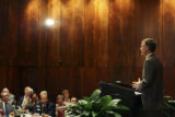 Mayor John Hickenlooper spoke to the City Club of Denver at the Brown Palace Hotel Ballroom A, ...