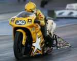 (SPECIAL TO THE LONGMONT TIMES-CALL) JPM0038 Pro Stock Motorcyclist Angelle Sampey, of Mathews,...