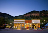 Exterior shot of Hongas Lotus Petal at twilight, Telluride, CO. Special to the News.