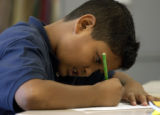 [EDGEWATER, CO. -  July 30, 2004)  Edgewater Elementary School student Oscar Andrade-Dominguez...