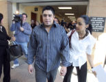 Victor Rubi-Nava leaves  Douglas County court in Castle Rock on Monday September 25,2006 after...