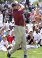 (CASTLE PINES, Colorado. August 02, 2004) British Open champion Todd Hamilton shows his long game ...