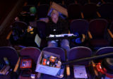 Stage manager Greg Melton(cq), watches a rehearsal for the Modern Muse Theatre's production of...