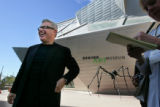 Architect Daniel Libeskind (cq) talk to the press on a media day preview of the new Hamilton...