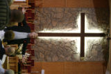 DLM01000   Pastor Larry Kalb leads the morning service at Platte Canyon Community Church Sunday,...
