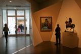 A visitor to the new Frederic C. Hamilton building at the Denver Art Museum looks at Robert...