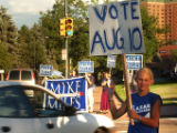 (DENVER, CO. August 3, 2004)  Ashley Beck. 17, a Ken Salazar supporter and Mike Miles supporters...