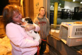 (DLM4213) - Vonda Lundstrom, 44, and her son, Mark Lundstrom,16, are reunited with their dog Daisy...