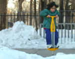 Tuesday, January 9, 2007-photo by Jerilee Bennett-Five-year-old Rowan Fay jumps on his new pogo...