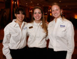 National Western Scholarship Trust recipients Lily Murray, Rena Stohrer, and Megan Zeman. (STEVE...