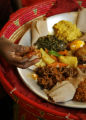 Zewditu (Zodi) Aboye (cq), owner of the ethiopian restaurant, Queen of Sheba at 7225 E. Colfax, at...