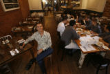 Owner/chef Kimbal Musk at The Kitchen, posed in the dining area of the restaurant in Boulder on...