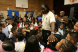 (DLM4279) -   Rev. Leon Kelly watches over some of the kids during the Open Door Youth Gang...