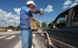 (JEFFCO, CO., Aug 3, 2004)  James Gardener,52, spends his days panhandling in S. Jefferson County....